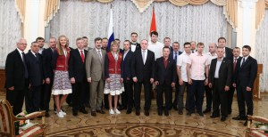 Спортсмены и тренеры ДЮСШ «Буревестник» на приеме у Губернатора Челябинской области