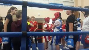 Мастер-класс тренера по боксу Кристины Фатеевой