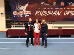 Бронза на рейтинговом турнире «Russia open» г. Москва.