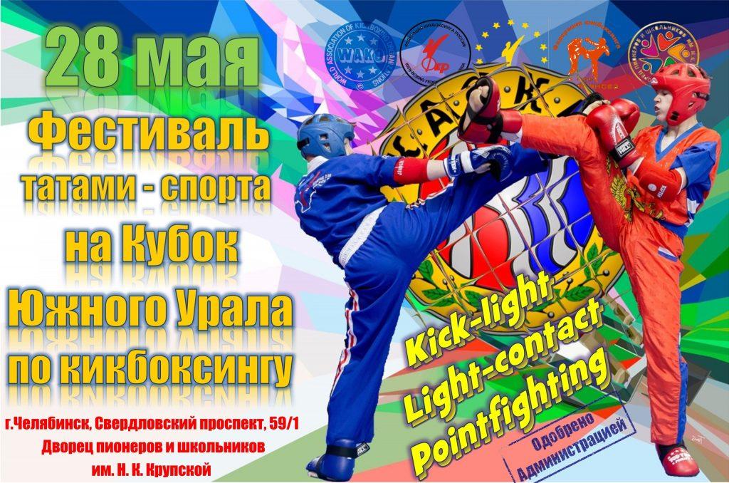 Фестиваль татами-спорта, на кубок Южного Урала по кикбоксингу.